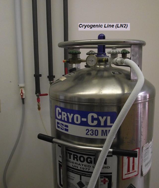 Cryogenic Liquid Nitrogen Line Hivatec Laboratory